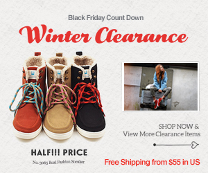 Black Friday Count Down   Winter Clearance- HALF!!! PRICE  Free Shipping from $55 in US