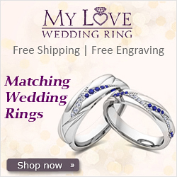 His and Hers Matching Wedding Bands from MyLoveWeddingRing.com