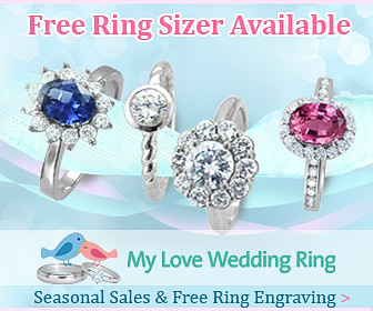 Free Ring Sizer at My Love Wedding Ring