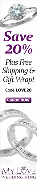 Save 20% Plus Free Shipping and Gift Wrap at MyLoveWeddingRing.com