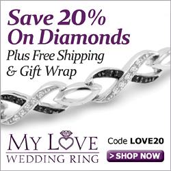 Save 20% on Diamond Jewelry at MyLoveWeddingRing.com!