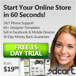 Get a 15 Day Free Trial at 3DCart.com
