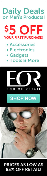Shop Daily Deals on Men's Products and get $5 OFF your first purchase at End of Retail - Shop Now!