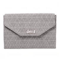 City Slim Clutch in slate grey/geo metallic