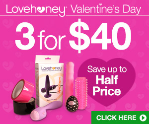 Get 3 for $40 on sexy Valentine's toys & gifts and save up to 50%!