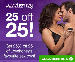 Get 25% off 25 Lovehoney Favorites!