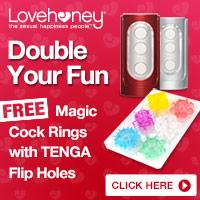 6 free Magic Cock Rings when you buy a TENGA Flip Hole