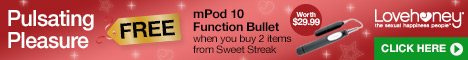 Free mPod Bullet Vibe worth $29.99 when you buy 2 items of Sweet Streak Lingerie