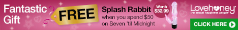 Free Lovehoney Splash Rabbit Vibrator worth $32.99 when you spend $50 on Seven 'til Midnight Lingerie