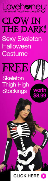 Get free Skeleton Stockings worth $9.99 with Fever Sexy Halloween Costume