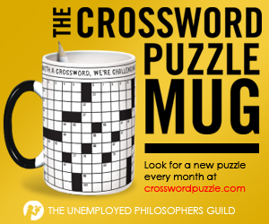 The Crossword Puzzle Mug by the Unemployed Philosophers Guild