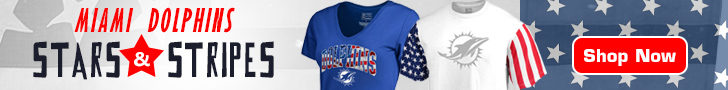Salute The Flag With Miami Dolphins Stars & Stripes Gear!