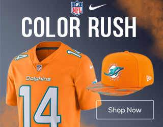 Get Miami Dolphins Color Rush Gear Here!
