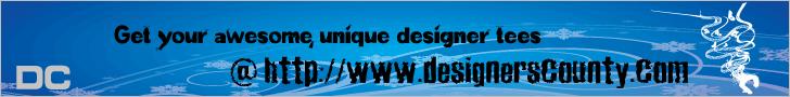 Get your awesome, unique, designer tees @ http://www.designerscounty.com