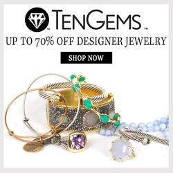 Up to 70% off designer jewelry.