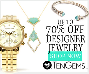 Up to 70% off designer jewelry.