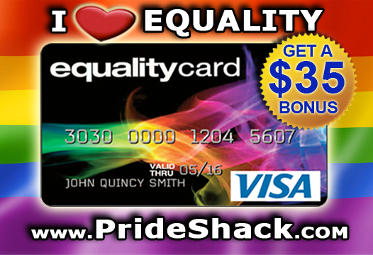 Pride Shack Gay Visa Card Banner