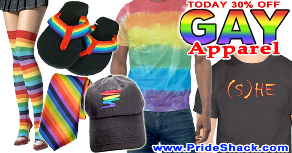 gay apparel at pride shack