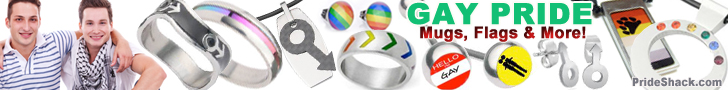 Gay Male Pride Items #1 (Horizontal Banner)