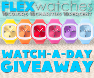 Flex Watches Watch-A-Day Giveaway Banner - 300x250