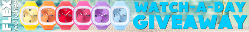 Flex Watches Watch-A-Day Giveaway Banner - 728x90