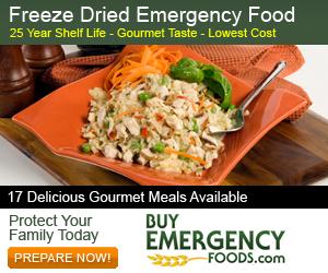 Freeze Dried Emergency Food