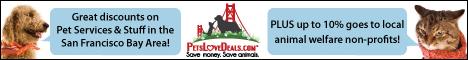 Pets Love Deals Pet Deals Discount Coupons San Francisco animal welfare rescue non profits donation