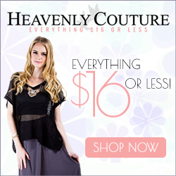 Shop trend-setting fashion at Heavenly Couture, where everything is $16 or less!
