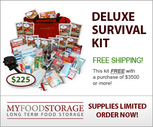deluxe survival emergency kit with food storage and water