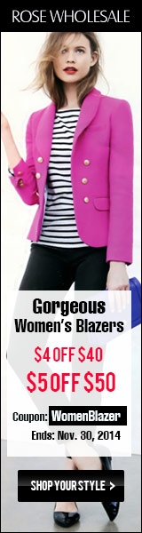 Enjoy $4 OFF $40+ and $5 OFF $50 for All Women's Blazers! Coupon Code: WomenBlazer. (Ends: Nov.30th)