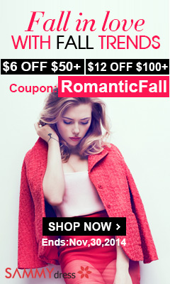 Romantic Fall! Take $6 OFF $50+, $12 OFF $100+ with Coupon