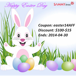 Happy Easter Day! Enjoy $100-$15 with Coupon Code: easter14AFF. Ends on 2014-4-30. Treat Yourself with New Clothes and Gorgeous Accessories!
