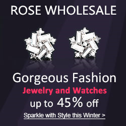 Free Shipping + Up to 45% OFF for the Gorgeous Fashion Jewelry and Watches at Rosewholesale!