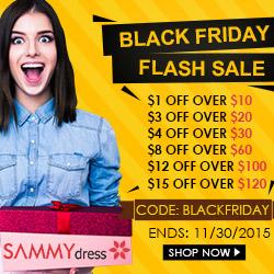 Black Friday Flash Sale @Sammydress.com