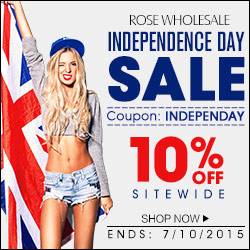 Independence Day Sale: 10% OFF Sitewide at Rosewholesale! (Ends: Jul.10, 2015)