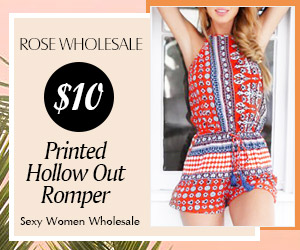 $10 Printed Hollow Out Romper