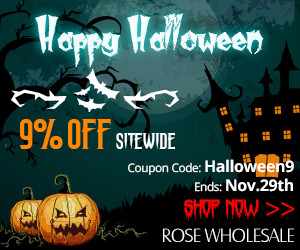 Happy Halloween! Take 9% OFF Sitewide for All: Newest and Hottest Dresses, Women's Tops, Outerwear, Shoes, Bags, Fashion Jewelry etc. Coupon Code: Halloween9. (Ends: Nov.29th)