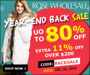Year-End Back Sale! Up to 80% OFF + Extra 11% OFF for the Order Over $200 with Coupon: BACKSALE. (Ends: Dec.30, 2014)
