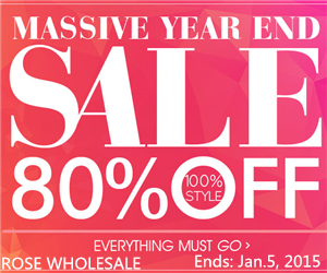 Massive Year-End Sale: Up to 80% OFF at Rosewholesale!