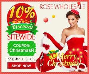 "Merry Christmas! 10% OFF Sitewide at Rosewholesale with Coupon ""ChristmasR"". (Ends: Jan.11, 2015)"
