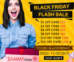 Black Friday Flash Sale @Sammydress.com