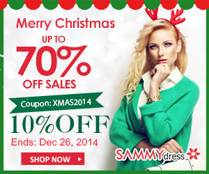 Merry Christmas: UP to 70% OFF + 10% OFF Coupon: XMAS2014. (Ends: Dec 26,2014)