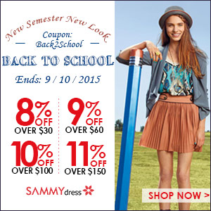 Sammydress Back to School Sale. Use coupon to save more!