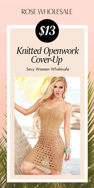 $13 Knitted Openwork Cover-Up at Rosewholesale.com!