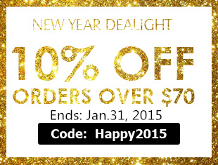 Take 10% OFF for the Order Over $70 at Rosewholesale with Coupon: Happy2015! (Ends: Jan.31, 2015)