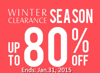 Winter Clearance Season! Up to 80% OFF at Rosewholesale! (Ends: Jan.31, 2015)