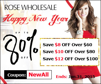 Happy New Year! Enjoy $8 OFF $60+, $10 OFF $80+, $12 OFF $100+ Sitewide with Coupon: NewAll. (Ends: Jan.31, 2015)