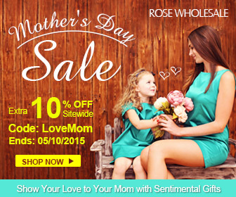 Mother's Day Sale: 10% OFF Sitewide with Coupon: LoveMom. (Ends: 05/10/2015)