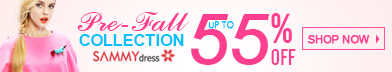 Pre-Fall Sale! UP to 55% OFF at sammydress.com! Fall in Love with the Trends!