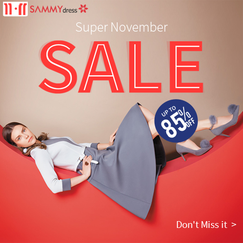 Sammydress 11.11 Sale is really a super November sale.